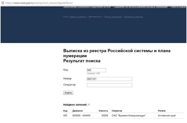 выписка-из-реестра-россвязи-проверка номера телефона по базе