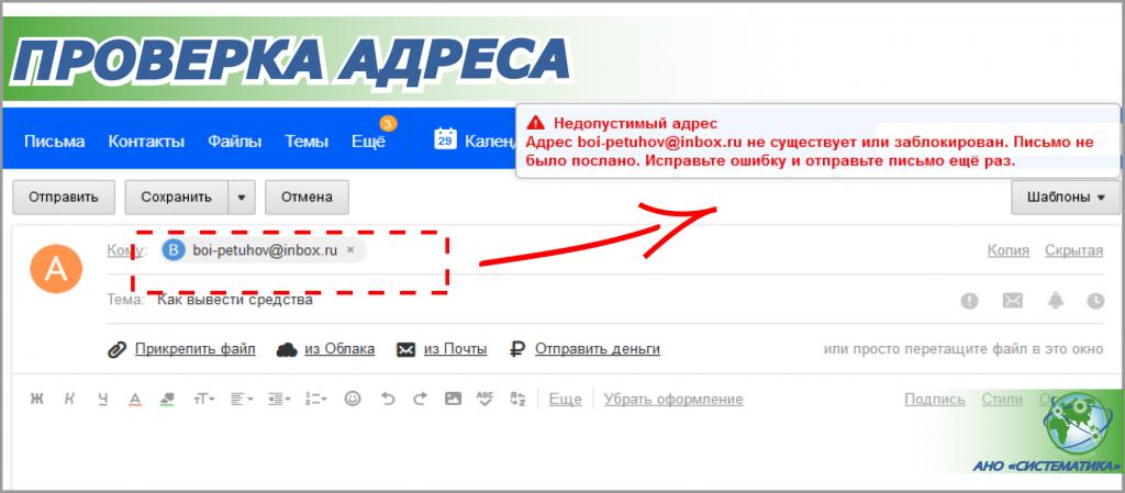 проверка адреса электронной почты