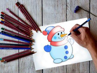 рисуем объемного снеговика в иллюстраторе