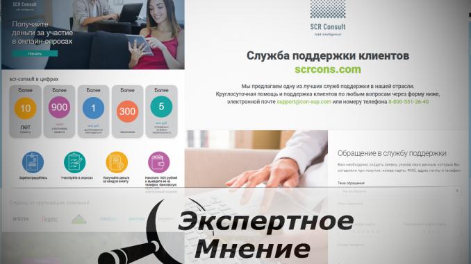 Платные опросы scr-consult.ru (scrcons .com)