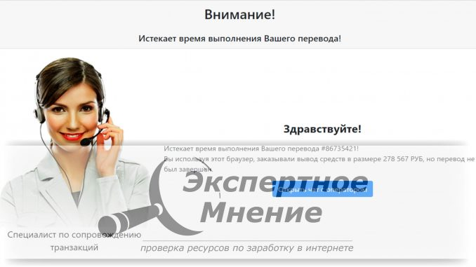 Истекает время выполнения вашего перевода Вы используя этот браузер, заказывали вывод средств в размере 278 567 РУБ
