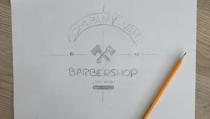 как нарисовать логотип карандашом