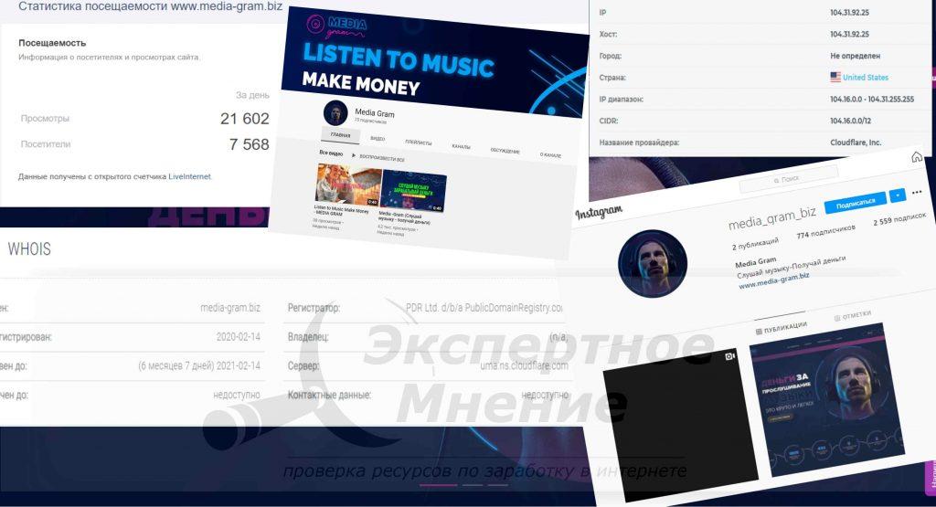 Media -Gram (Слушай музыку - получай деньги)