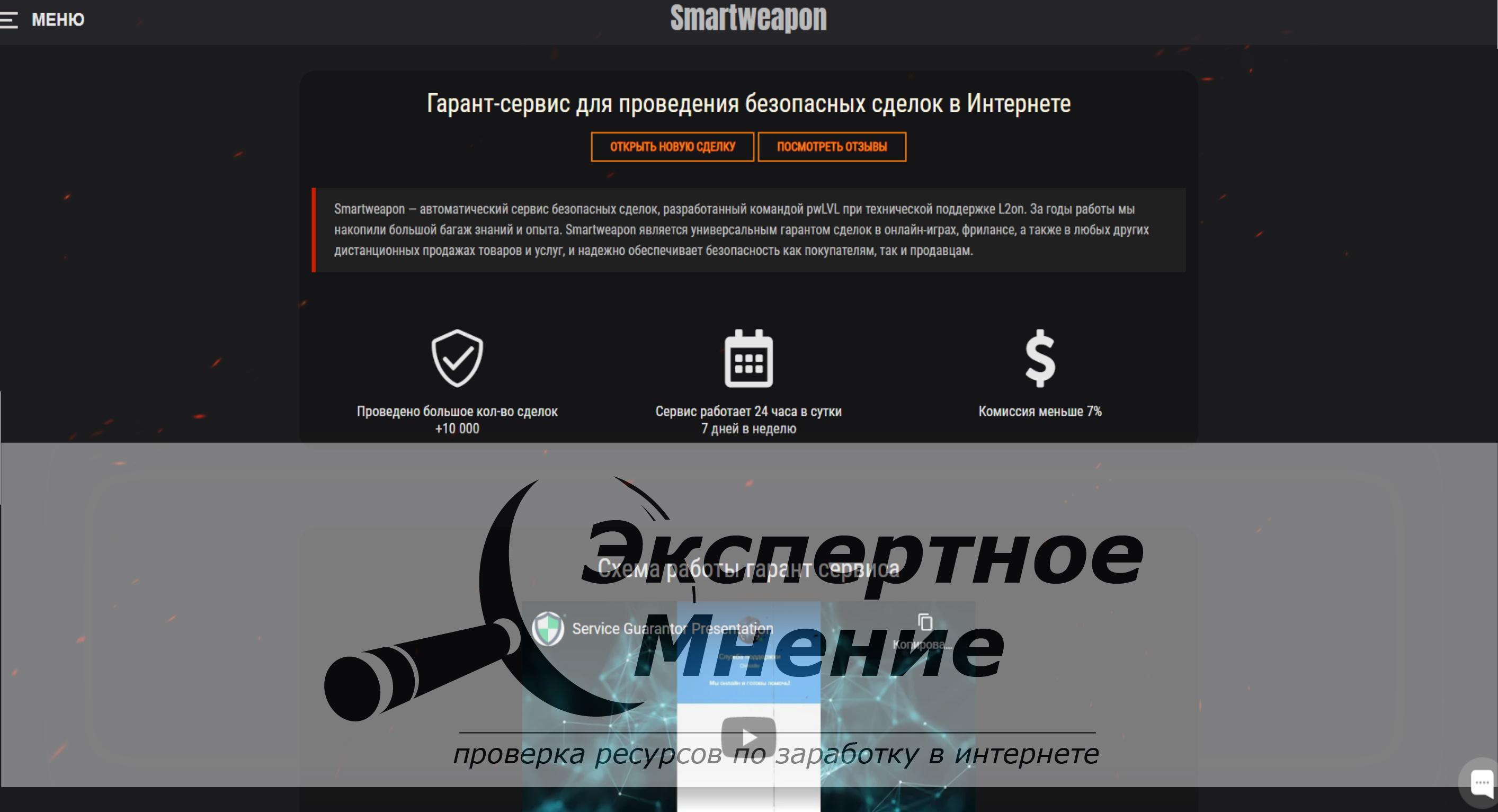 Гарант-сервис для проведения безопасных сделок в Интернете