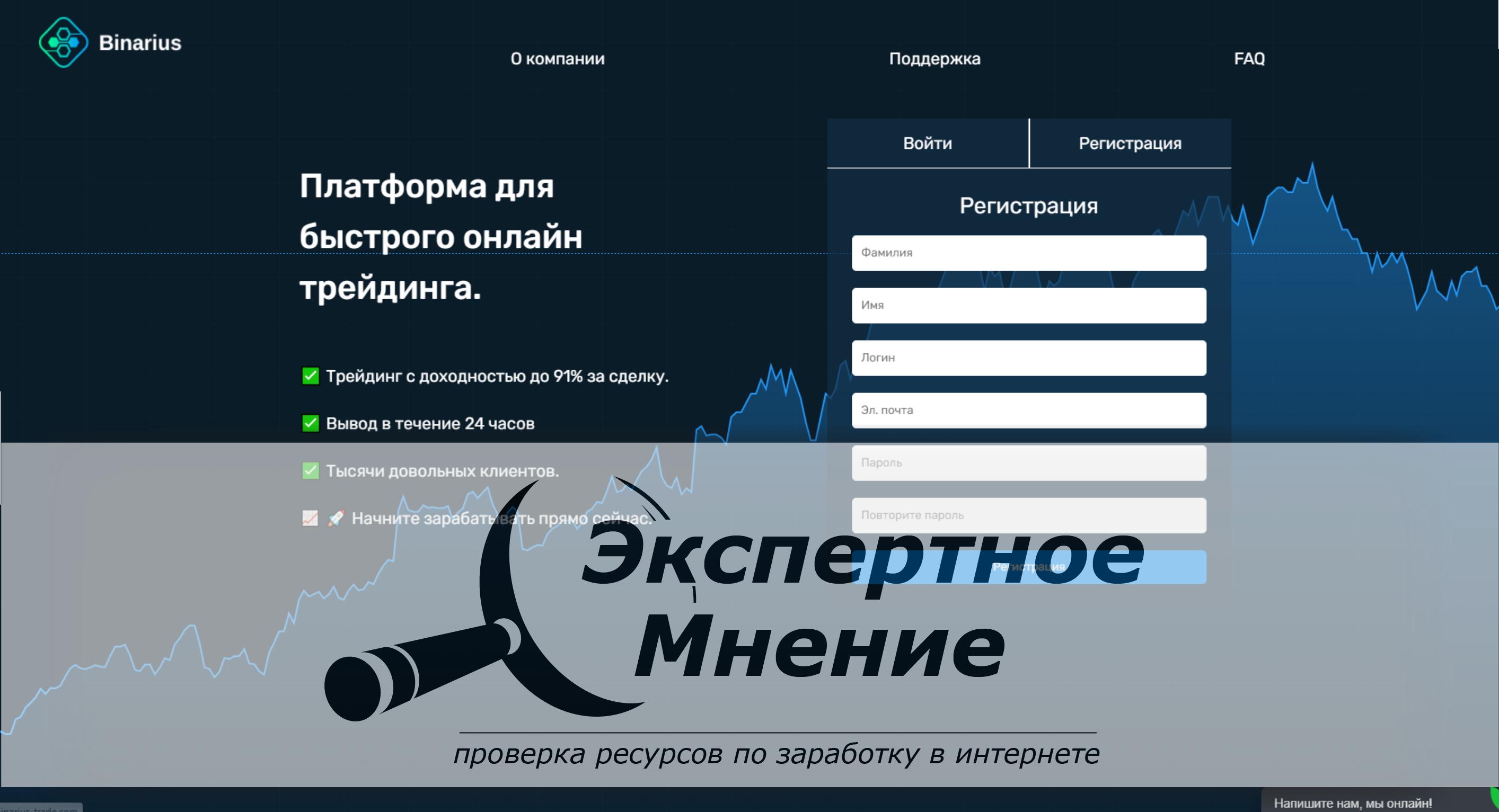 Binarius Trade Платформа для быстрого онлайн трейдинга отзывы